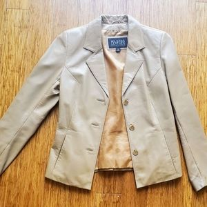Wilson's 100% Beige Leather Jacket